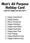 Men's Holiday Card