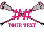 Lacrosse Pink Camo Sticks Crossed