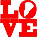 Lacrosse Love Red