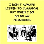 a funny classical music joke on gifts and t-shirts