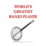 a funny banjo joke on gifts and t-shirts.