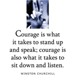 Takes courage