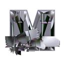 Heavy Metal initial letter M monogram