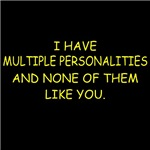 Multiple Personalities T-shirts and Gifts