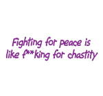 Fighting for Peace - Goodies