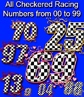 Checkered NUMBERS from 00 to 99