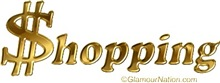 Shopping in Gold Letters