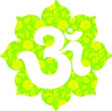Om Lotus in yellow Green