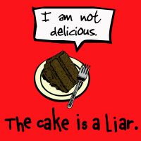 The cake is a lie shirts