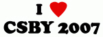 I Love CSBY 2007