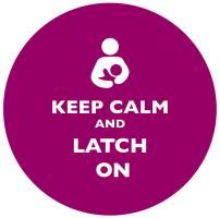 Keep Calm and Latch On Plum