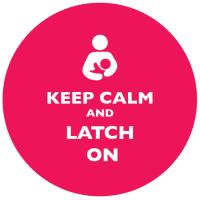 Keep Calm and Latch On Bright Pink