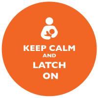 Keep Calm and Latch On Orange