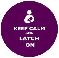 Keep Calm and Latch On Purple
