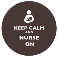 Keep Calm and Nurse On Dark Brown