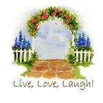 LIVE,LOVE,LAUGH ARCH