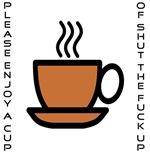 Enjoy a Cup (Vertical)
