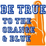 Orange & Blue Baseball