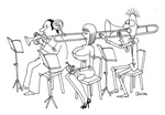 Cheeky Trombonist