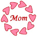 Pink Hearts for Mom