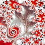 Red & White Hot Summer Fractal
