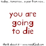 going to die (red letter)