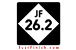 26.2 - Just FINISH sign
