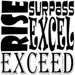 Rise, Exceed, Excel, Surpass