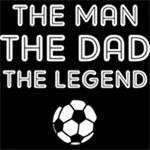 Legendary Soccer Dad WHT