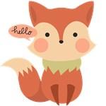 Cute Fox Hello