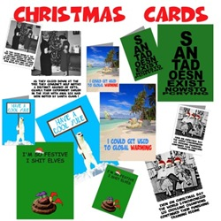 Funny Xmas cards and offensive Xmas cards