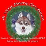 Siberian Husky Christmas gift