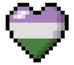 Genderqueer Pixel Heart