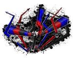 Graffiti Polyamory Lightning and Arrows