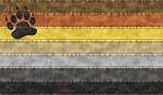 Bear Denim Flag
