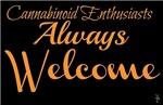 Cannabinoid Enthusiasts Always Welcome