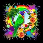 Rainbow Lorikeet Parrot Art