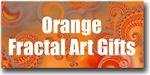 Orange Fractal Art Gifts