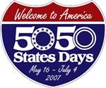 50 States 50 Days shield logo