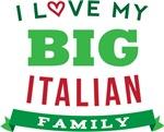 I Love My Big Italian Family T-shirts