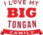 I Love My Big Tongan Family Tshirts