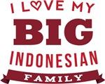 I Love My Big Indonesian Family Tshirts