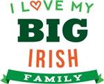 I Love My Big Irish Family Tshirts