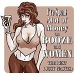 Booze and Women (monotone tan)