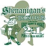 Shenanigan's Irish Pub (light colored shirts)