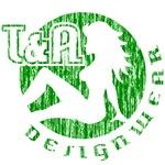 T&A Designwear distressed logo (green print)