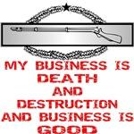 Army CIB Death And Destruction