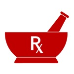 Red Mortar and Pestle Rx