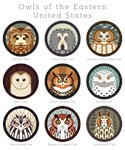 Owls of the Eastern United States (with labels)