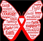 Butterfly Bone Cancer Ribbon